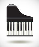 Grand  piano keys icon on white background Stock Photography