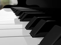 Grand piano keys, music Royalty Free Stock Images
