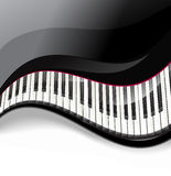Grand piano keys wavy background Royalty Free Stock Photo