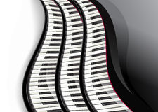 Grand piano keys wavy Royalty Free Stock Image