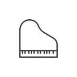 Grand piano line icon, outline vector sign, linear style pictogram isolated on white. Royalty Free Stock Photo
