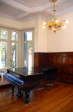 Grand piano in a luxury home Royalty Free Stock Photos
