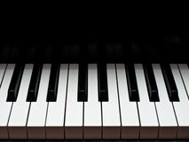 Grand piano music keyboard. View royalty free stock photo