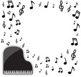 Grand Piano Musical Background Royalty Free Stock Images