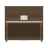 Grand piano musical keyboard classical instrument vector illustration. Stock Images