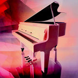 Grand piano on a pink background. Grand piano colourful background. Royalty Free Stock Photos