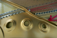 Grand Piano. 's Soundboard, Strings and Harp Stock Photography