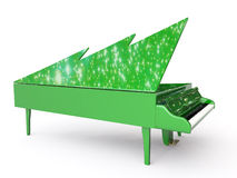 Grand piano for Santa Claus. Green grand piano for Santa Claus vector illustration