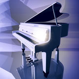 Grand piano on a scene. Stock Photos