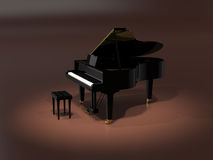 Grand piano on stage Royalty Free Stock Photo