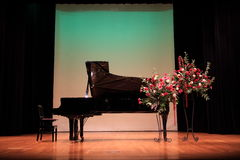 Grand piano. On the stage stock photo