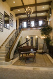 Grand piano and stairs. Royalty Free Stock Photography