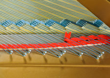 Grand Piano strings Stock Photography