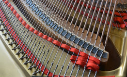 Grand Piano Strings Abstract in Landscape View stock photography
