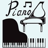 Grand piano. Vector Stock Images