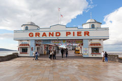 The Grand Pier in Weston-super-Mare. Royalty Free Stock Image