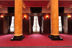 Grand pillars. In the hall Royalty Free Stock Photography