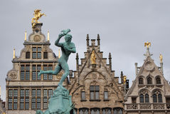 Grand place Antwerp Royalty Free Stock Images