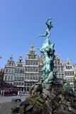 The grand place in Antwerp Stock Images