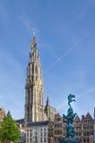 The Grand Place in Antwerp, Belgium. Stock Photo