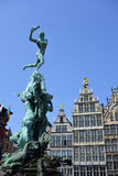 Grand place in Antwerp Royalty Free Stock Image