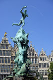 Grand place in Antwerp Royalty Free Stock Photo