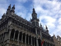 Grand Place. Beautiful building in the center of Brussels Stock Images