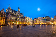 Grand Place Belgium. Grand Place Brussels, Belgium at dusk royalty free stock photography