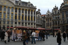 Grand Place in Brüssel, Belgien Stockfotografie