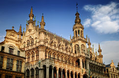 Grand Place in Brussel. Brussels Grand Place. Architecture. Belgium royalty free stock photo