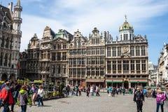 Grand Place, Brussel Stock Afbeeldingen