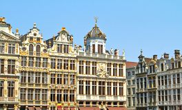 Grand Place in Brussel, België Juli royalty-vrije stock afbeelding