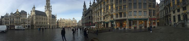 Grand Place Brusseles Arkivbilder