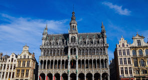 Grand Place in Brussels. The Grand Place of Brussels, Belgium. The gothic building in the middle is the Maison du Roi or the King's House Stock Photography