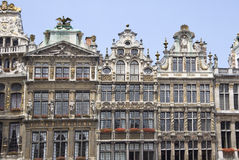 Grand-Place in Brussels. Houses of Grand-Place, center of Brussels, Belgium Stock Photo