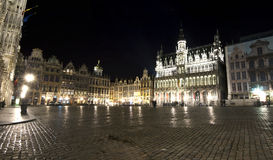 Grand place, Brussels. Grand place by night, Brussels royalty free stock photos