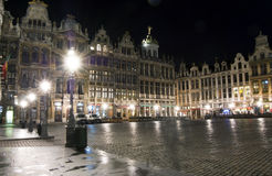 Grand place, Brussels. Grand place by night, Brussels royalty free stock image