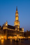 Grand Place, Brussels. A medieval building at the Grand Place in Brussels, Belgium during twilight hours royalty free stock photography