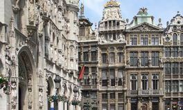Grand Place in Brussels Stock Images