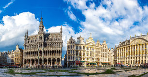 The Grand Place in Brussels. The Grand Place in a beautiful summer day in Brussels, Belgium royalty free stock photos