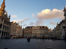 Grand place brussels royalty free stock photography