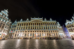 Grand Place - Brussels, Belgium. Grand Place in Brussels, Belgium at night Stock Photo