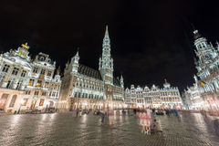 Grand Place - Brussels, Belgium. Grand Place in Brussels, Belgium at night Royalty Free Stock Image