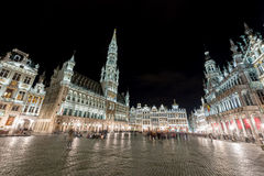 Grand Place - Brussels, Belgium. Grand Place in Brussels, Belgium at night Royalty Free Stock Photo
