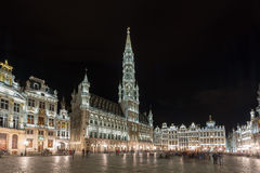 Grand Place - Brussels, Belgium. Grand Place in Brussels, Belgium at night Stock Image