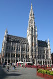 Grand Place Brussels Cityhall Royalty Free Stock Photos