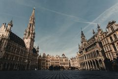 The Grand Place of Brussels royalty free stock photos