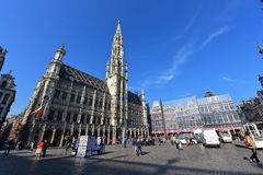 Grand Place of Brussels, an important tourist destination, most memorable landmark in Brussels Stock Photography