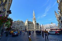 Grand Place of Brussels, an important tourist destination Royalty Free Stock Images