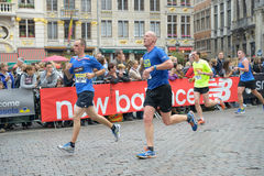 Grand Place during Brussels Marathon and Half Marathon of Brussels Royalty Free Stock Photo